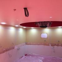 「超薄型ダウンライト」ビッグステップB1F パウダールーム 三栄建設